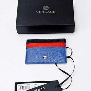 Versace Bags - Medusa Leather Unisex Credit Card Slim Wallet